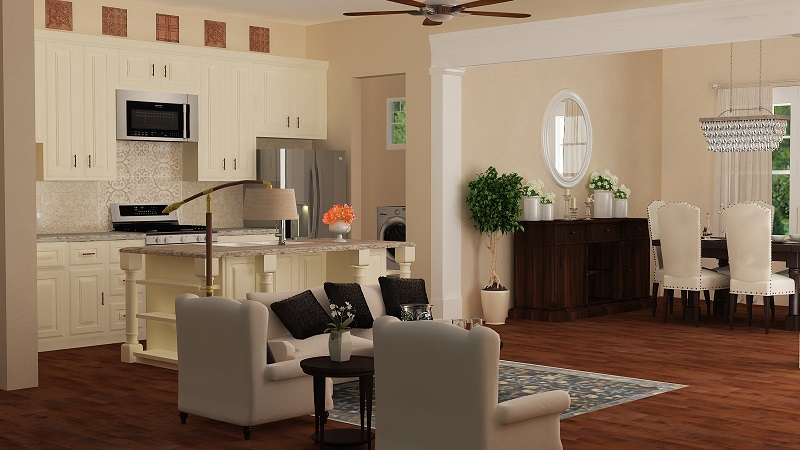 Living Area by DFD House Plans
